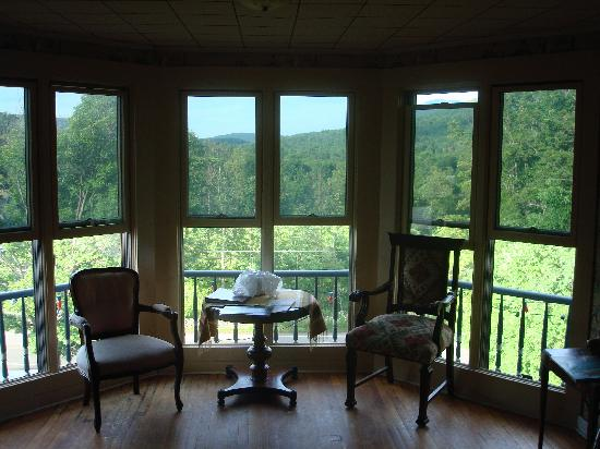 Catskill Lodge Bed and Breakfast: The exellent view from our room