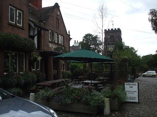 The Rams Head Inn: View from the road