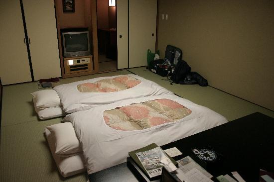 Hotel Shiragiku : Futon ready for bed