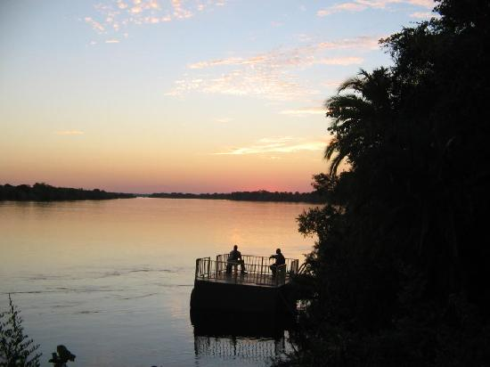 Victoria Falls Waterfront: sunset on the Zambezi