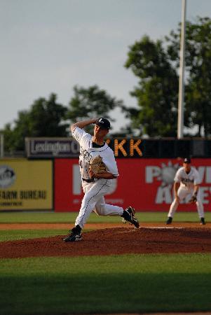 Whitaker Bank Ballpark : Legends pitching