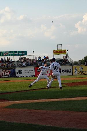 Whitaker Bank Ballpark: Infield fly