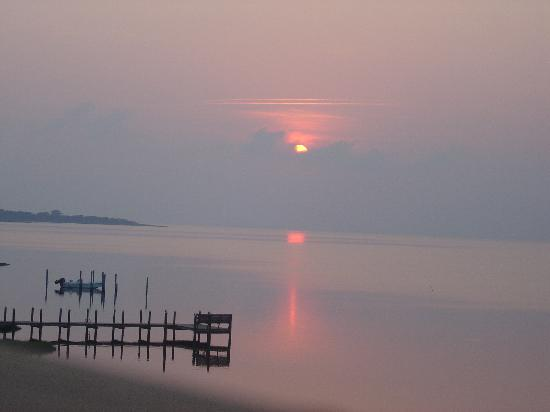 The Inn on Pamlico Sound: Sunset view from Jasmine deck