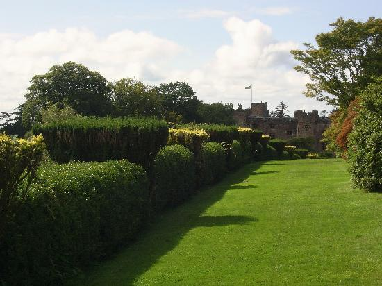 Muncaster Castle from the terrace