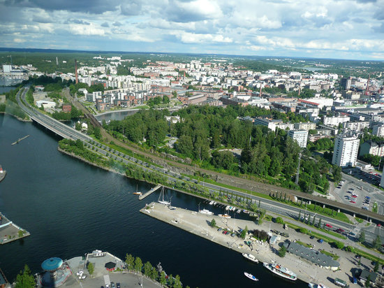 Sarkanniemi Adventure Park: Views from the observation tower