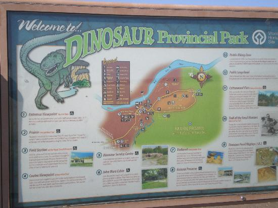 Dinosaur Provincial Park: A lookout point before the visitors centre