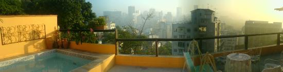 Casa da Carmen e do Fernando: view from the my doorway onto the terrace