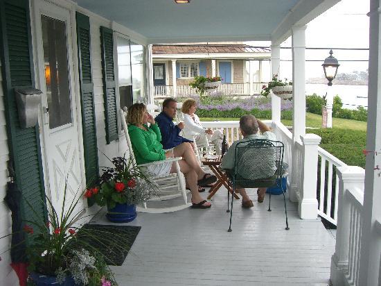 Beach & King Street Inn : On the front porch