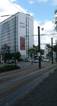 our first view of hotel asahi approaching from the railway station. Black Bedroom Furniture Sets. Home Design Ideas