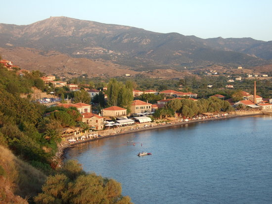 Molyvos (Metimna), Grecia: View of the bay