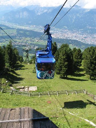 Sporthotel Igls : Gondola on Igls mountain