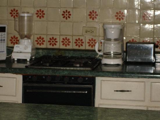 Hotel Villas Del Pescador: Our mouse was camera shy and ran behind the coffeemaker