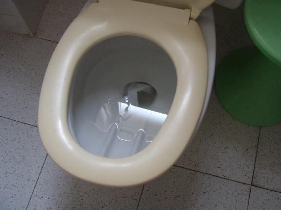 Checkin Garbi: Toilet and dirty bathroom floor