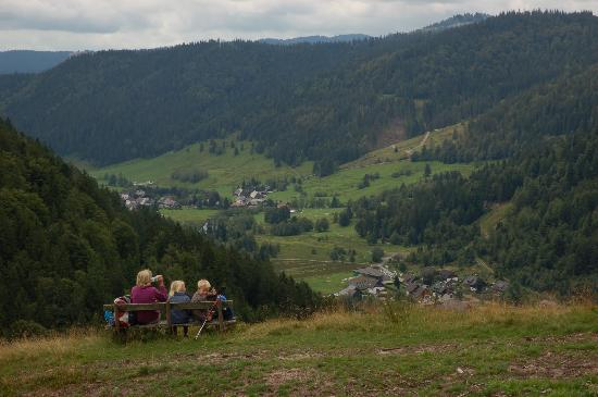 Gastehaus Grunenberg: Enjoying the view over Menzenschwand