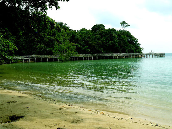 Batam, Indonesien: beach in front of Nongsa Village