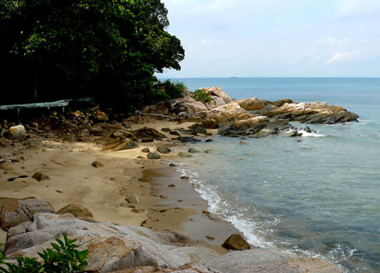 Batam, Indonesia: rocks and sand around Nongsa