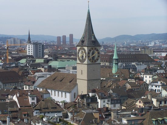 Zürih, İsviçre: View on Zurich