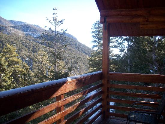 Mt. Charleston Lodge: View from Balcony of cabin #16