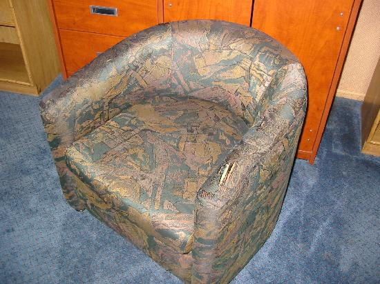 89 Chestnut: The tattered chair.