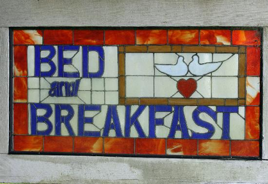 This Olde House Bed and Breakfast : sign says it all