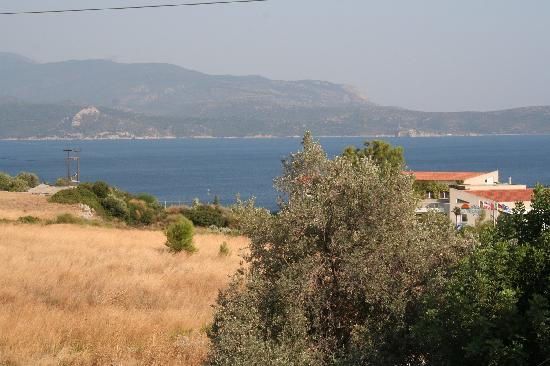 Hotel Naftilos: View from our room (room 108)