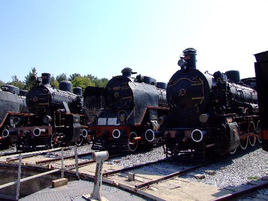 The turntable - Picture of Camlik Locomotive Museum ...