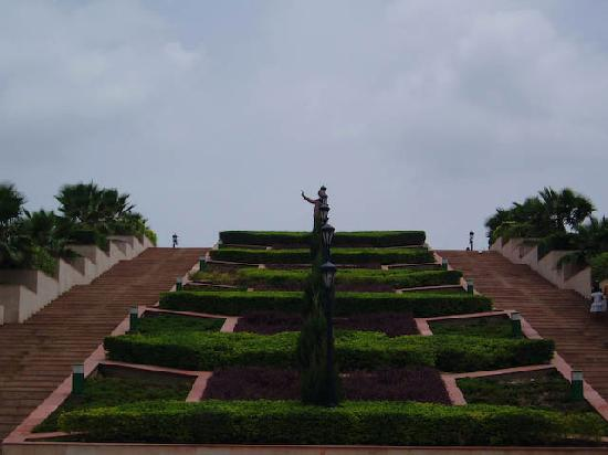 Rajiv Gandhi Park : Stairs to the Statue of Late Shri Rajiv Gandhi