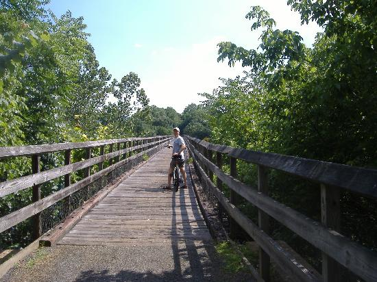 Sobotta Manor Bed & Breakfast : Biking on the New River Trail