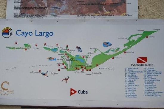 Cayo Largo Map Map of Cayo Largo   Picture of Cayo Largo, Cuba   TripAdvisor