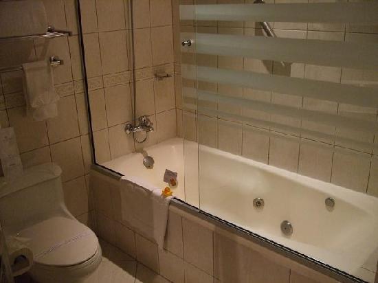 Casa Grande Suites: Bathroom, hotel provided rubber ducky
