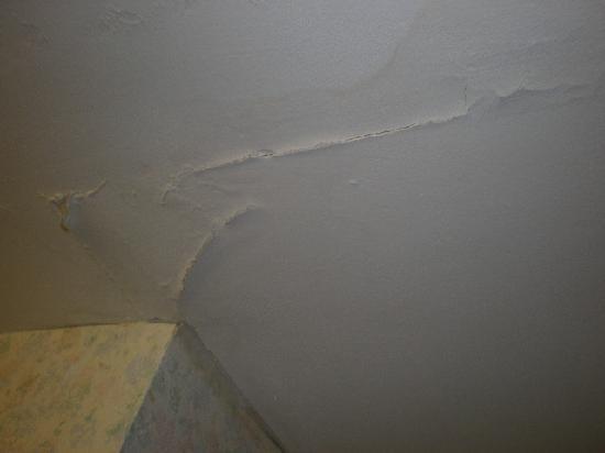 Comfort Suites Inn at Ridgewood Farm : damaged ceiling from leak