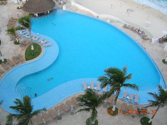The pool and ocean from our 9th floor suite