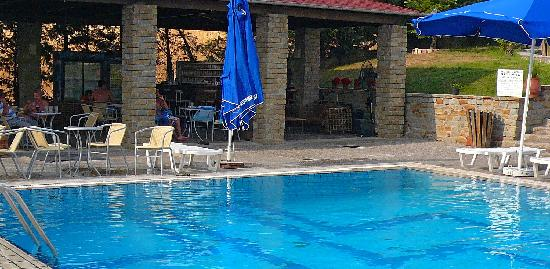 Grevena, Griekenland: Pool and Bar