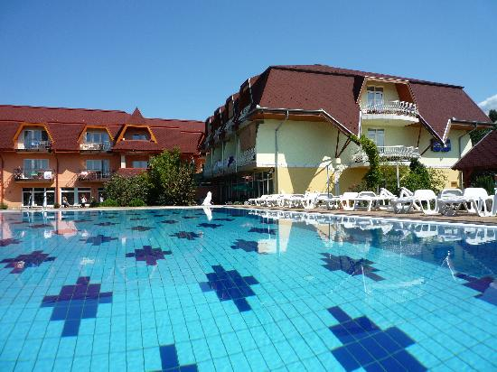 Wellness Hotel Katalin : Pool by day