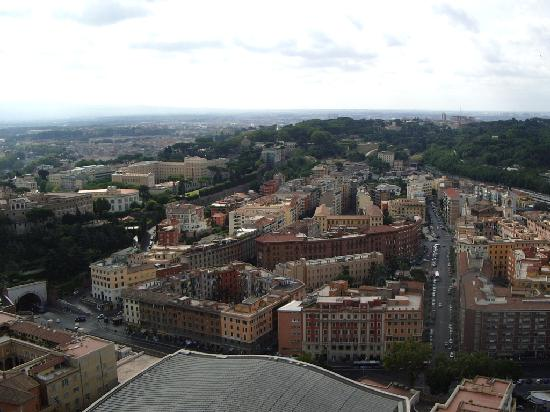 Residenza Madri Pie: Hotel (centre of picture) from top of St Peter's Dome