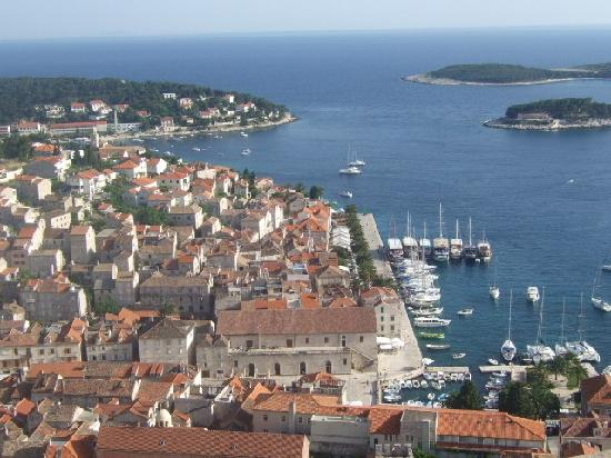 The Green Lizard: Hvar Town from the fort above the town