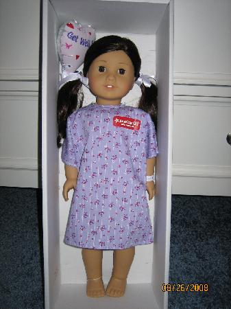 American Girl Place - New York: Jess when she arrived home from the doll hospital.