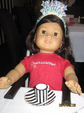 American Girl Place - New York: They have special seats and cups/saucers for the dolls.