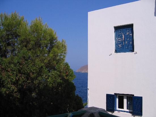 Yperia Hotel: vue de notre chambre à l'hotel yperia à amorgos