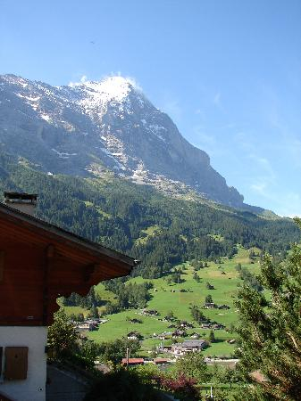 Jasmine Apartments: View of Eiger from Terrace