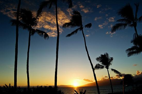 sunset at Mahina Surf