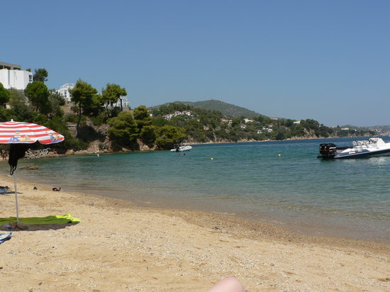 nostos beach skiathos, plenty of water sports.