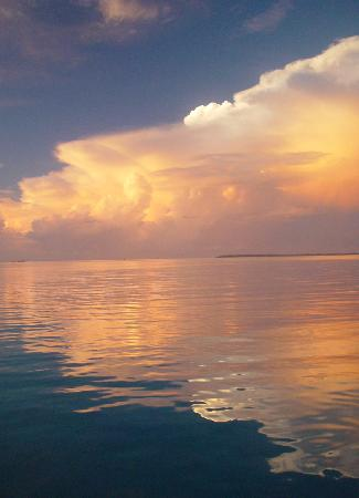 Sunset photo taken while at anchor off Motu Tao Tao, Tahaa, French Polynesia