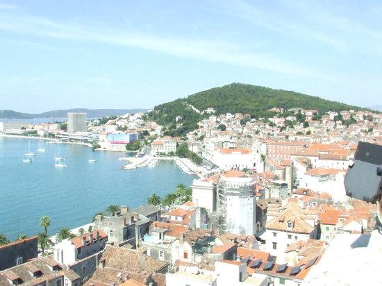 Split, Croácia: veduta dal campanile (visitabile)