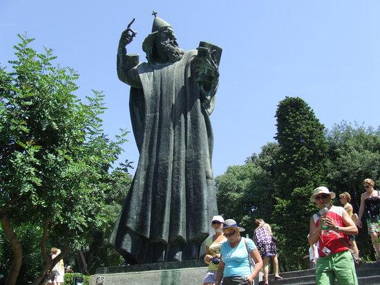 Split, Kroatia: statua del mago