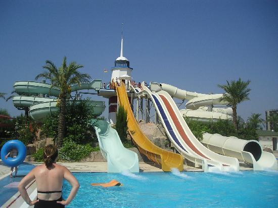 Titanic Beach Lara Hotel: Water slides