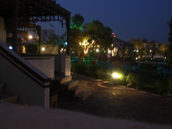 Ganet Sinai Hotel: The gardens at night