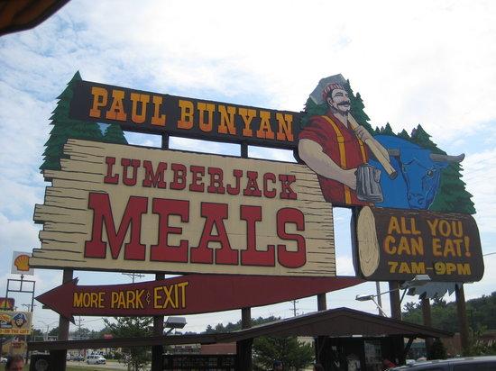 Paul Bunyans Northwoods Cook Shanty Wisconsin Dells Menu Prices