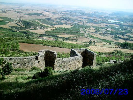 Aragón, España: Todo el recinto del castillo está amurallado.