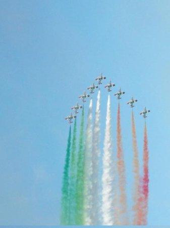 Caorle, Italy: am Schluss eine atemberaubende Flugshow!!
